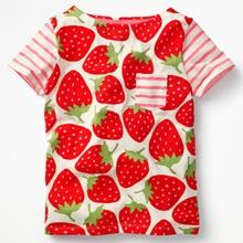 Mädchen Shirts Lustige T-Shirts Jungen T-Shirt T-Shirt Kinder T-Shirts Kinder Streifen lustige T-Shirt Printed Berry Baby Girl Sommerkleidung