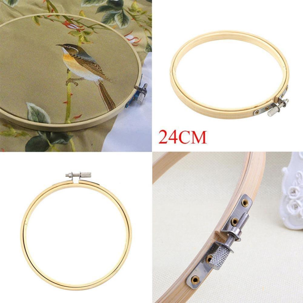 Praktische 24 cm Kreuzstich Maschine Bambus Rahmen Stickrahmen Ring ...
