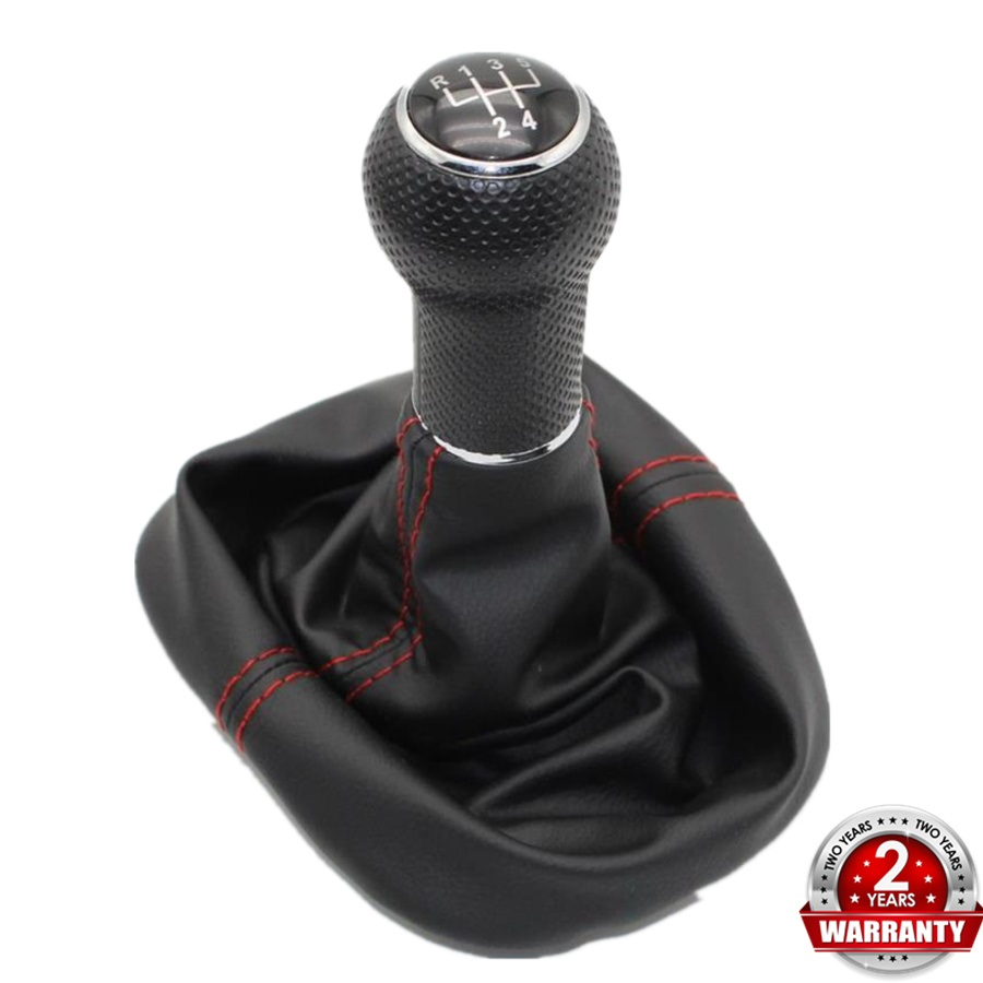 For Seat Leon 2000 2001 Toledo 1999 2000 2001 Car-Styling 5 Speed Gear Lever 23 Mm Hole Car Shift Knob Leather Boot Red Line