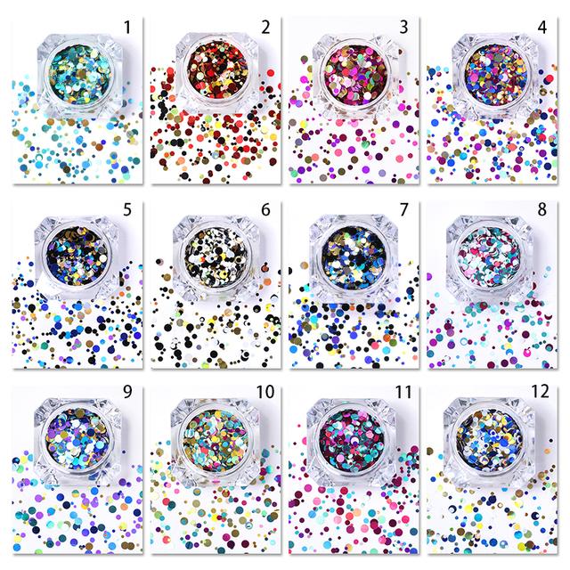 1 Box AB Color Nail Sequins