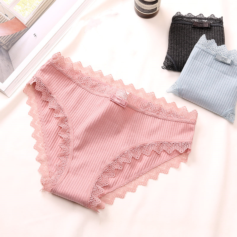 Lace Panties Women's Cotton Underwear Seamless Cute Girls Bow Briefs Lingerie Fashion Female Sexy Panties