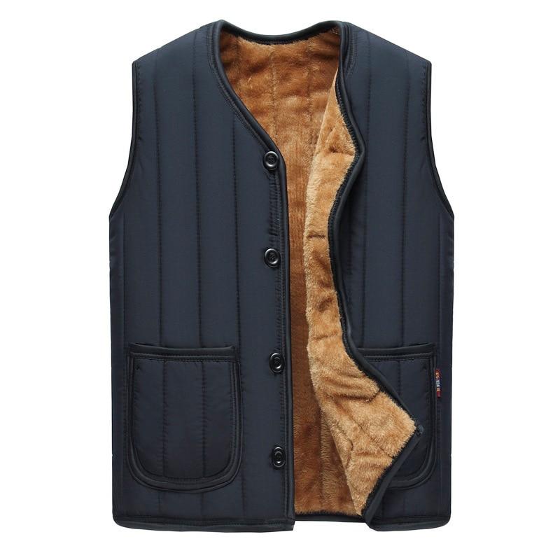 winter Plus velvet Down vest warm Men's waistcoat without sleeves high quality Vest male winter Men's sleeveless jacket XL-4XL