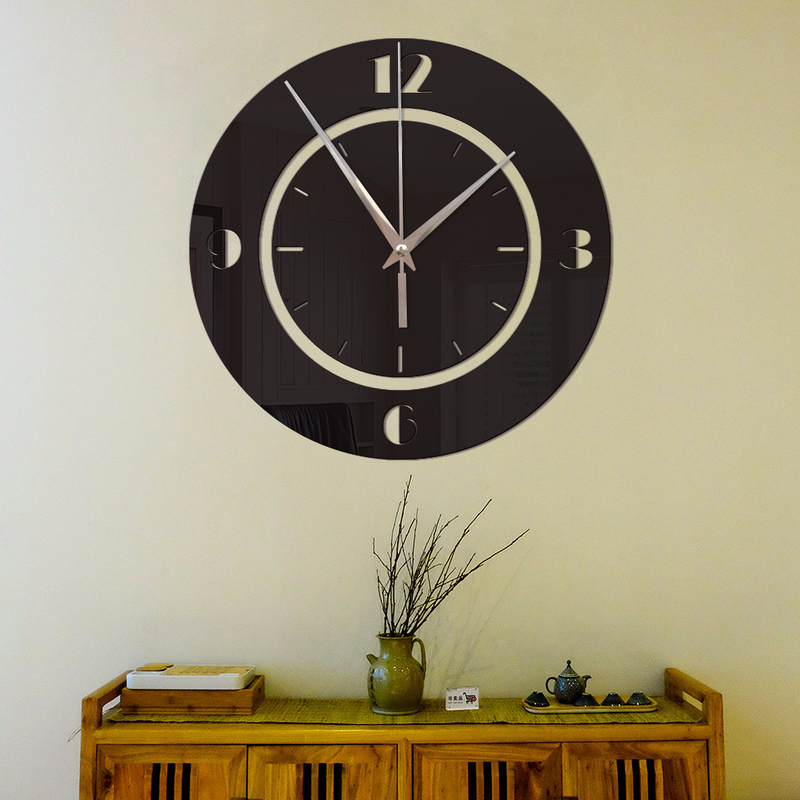 Mirror Wall Stickers Wall Clock Creative Round Digital Scale Wall Clock Home Decoration Mirror Stickers Living Room Bedroom