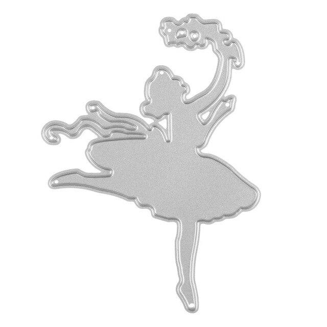 new dancing girl cutting dies stencils template diy scrapbooking