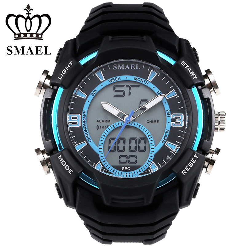 SMAEL Sport Watches LED Digital Military Army Wristwatch Outdoor LED Digital Watch relogio masculino montre homme