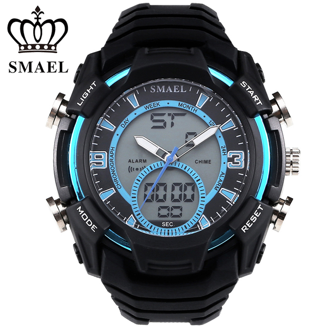 SMAEL Sport Watches LED Digital Military Army Wristwatch Outdoor LED Digital Watch relogio masculino montre homme Men GiftWS1349