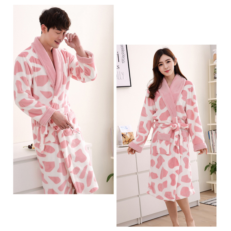 Women\'S Soft Warm Comfy Cosy Fleece Bath Robe Night Dressing Gown Lover Young Yarth Sleepwear Robe