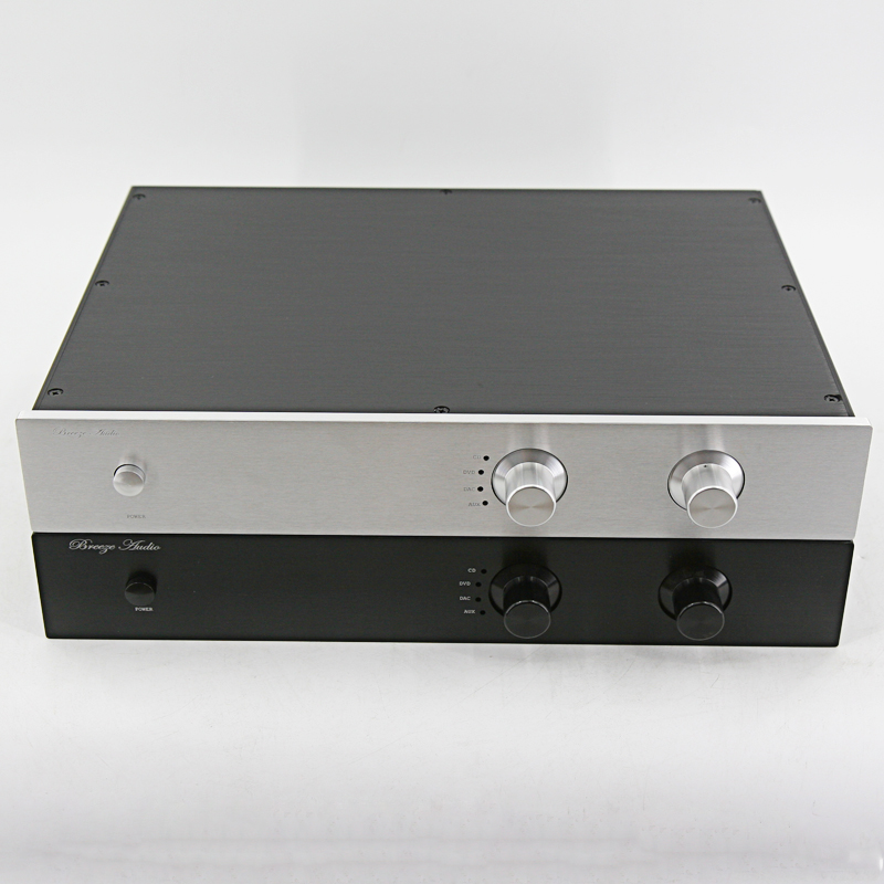BZ4307G Aluminum Preamplifier Chassis Complete and exquisite Case Power Amplifier Audio Box DIY Enclosure 430*70*308MM стоимость