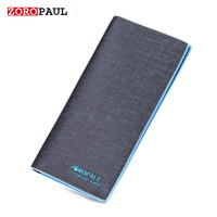 ZOROPAUL New Arrival High Quality Long Slim Men S 4 Colors Long Design Multifunctional Leather Purses
