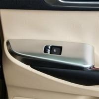 For Toyota Highlander 2014 2019 Chrome Inner Door Window Switch Panel Cover Trim