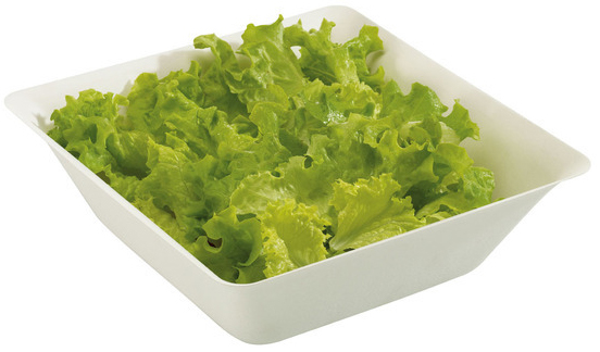 Free Shipping Party Suppliers, Disposable Plastic Tableware, White  162*162*56mm Square Salad Bowl, 48/Pack | Salad Box | Kitchen Accessories |
