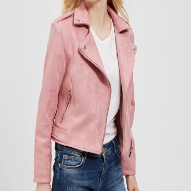 S-XL Women New Europe   Suede   Short Style   Leather   Clothing Ladies' Slim Short Style   Leather   Jacket Deerskin Jackets