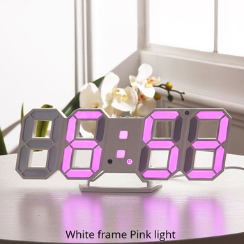 3D LED Wall Clock Modern Design Digital Table Clock Alarm Nightlight Saat reloj de pared Watch For Home Living Room Decoration 7