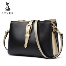 FOXER Brand 2019 Fashion Women Bucket Bag Lady Stylish Messenger Bags Female England Style Large Capacity Shoulder Bags new 2018 floral embroidery women bags hot england style multi use lady shoulder