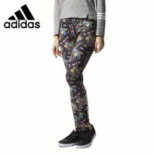 Original New Arrival 2017 Adidas NEO Label W AOP LGN ILLUS Women's Pants Sportswear