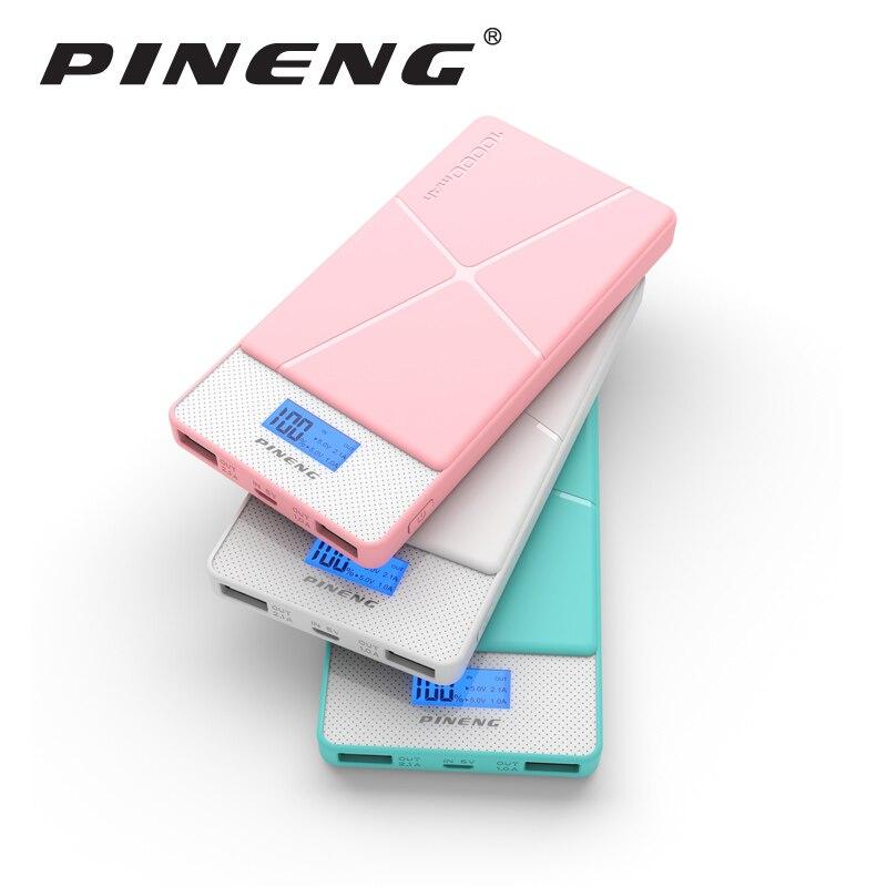 imágenes para Pineng Banco de la Energía 10000 mAh LED Cargador Rápido Dual USB Powerbank Móvil Portable de La Batería Externa para el iphone Samsung LG HTC Xiaomi