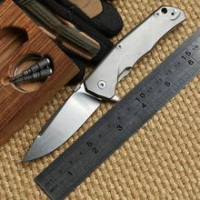 Ben MOLLETTA TRE M390 blade ceramic ball bearings Flipper folding knife TC4 Titanium handle camp hunting outdoor Knives EDC tool