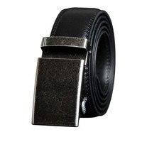 SOEI Men Belt Genuine Leather With Automatic Buckle Fashion Black And Gold Buckle Belts Men Mens Belt Of Brown Cowhide Belt Men