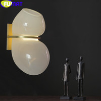 FUMAT European Modern Catch Glass Gourd Wall Lamp with copper base Gold Wall Light Restaurant Living Room Wall Sconce