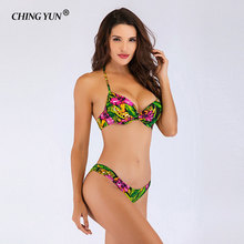 CHING YUN 2019 Newest Sexy Bandeau Swimwear Bikini Woman swimsuit Set Top Beach Bathing Suits Push Up Swim Suit Monokini 18102