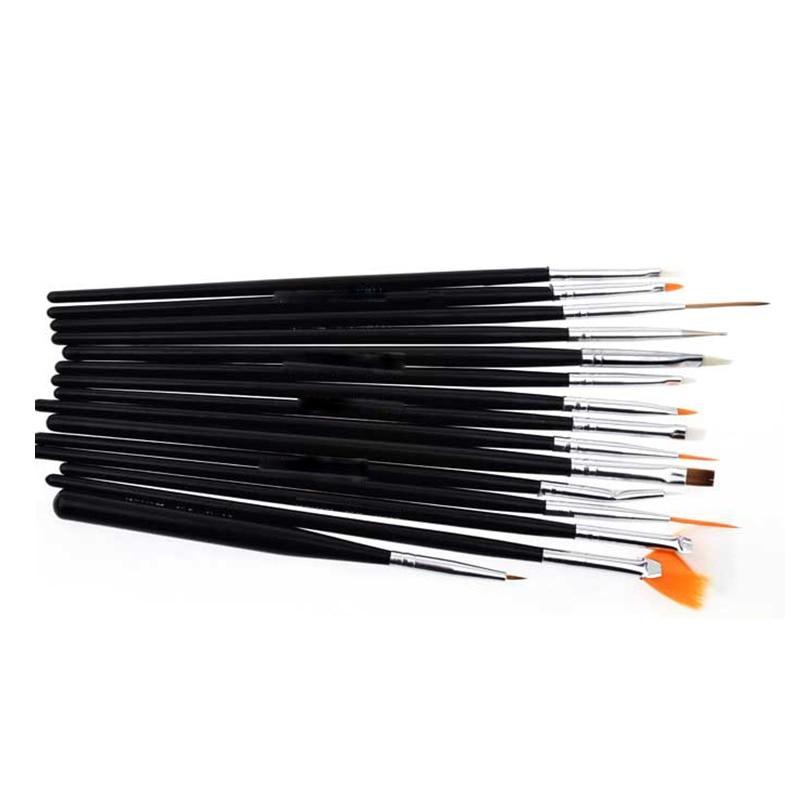 15 unids Profesional UV Gel Acrílico Nail Art Brush Set Diseño Gel - Arte de uñas - foto 4