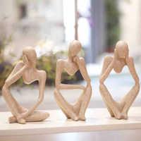 Europe abstraction penseur arts contracté grès Articles créatifs Figurines & Miniatures abstrait morden décoration de la maison
