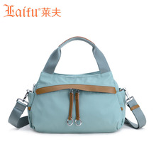 Laifu Brand Design Women Nylon  Handbag Crossbody Bag Girls Fashion Bag Europe  Style Ladies Messenger Bag Waterproof Black Blue