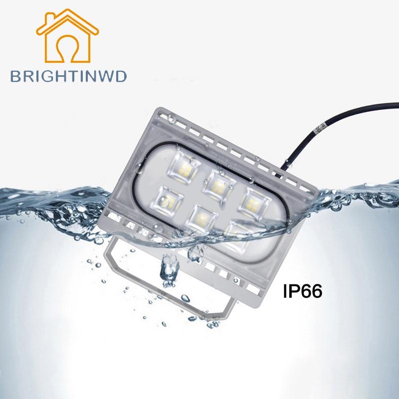 BRIGHTINWD Reflector LED Flood Light 20W 30W 50W Ultrathin AC220V IP66 Waterproof Landscape Spotlight Outdoor Floodlight ultrathin led flood light 10 w 20 w 30 w 50 w black ac176 264v waterproof ip65 outdoor lighting spotlight projector lamp