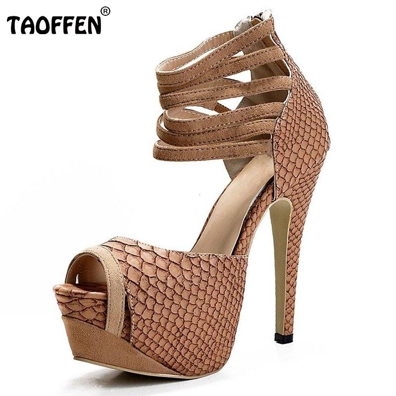ФОТО Nice Women Sandals Novelty Peep Toe Thin Heels Sandals Brown High-quality Shoes Woman Can be Customized Sandal Size 35-46 B059