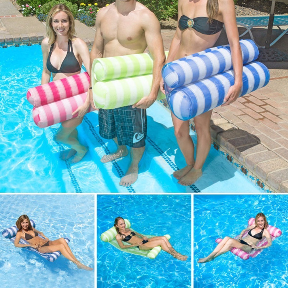 Inflatable Air Mattress Swim Float Swimming Pool Water Floating Boat Mat Row For Adults Kids Pool Accessories 3 Colors