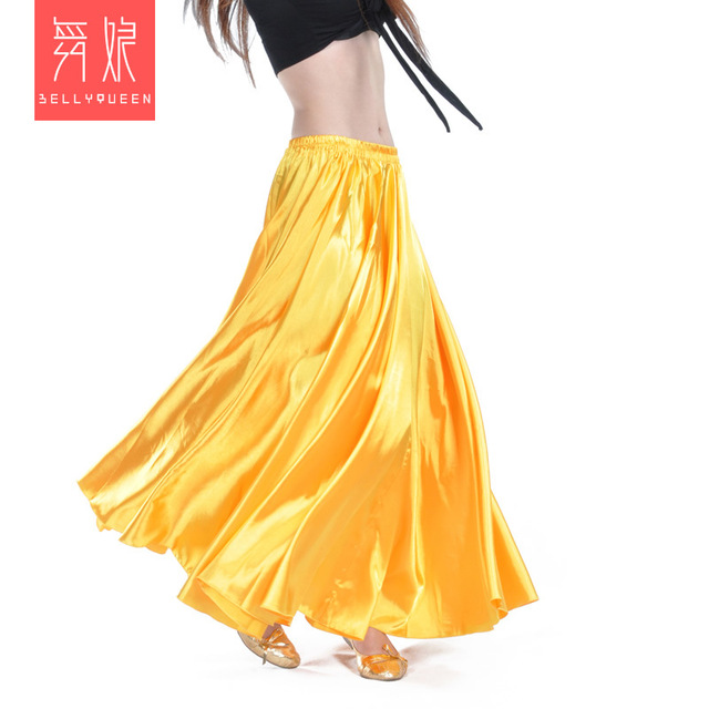 Wholesale Satin Belly Dance Skirt for Women Cheap Belly Dancing Costume Skirts on Sale Women Dance Dress LD010