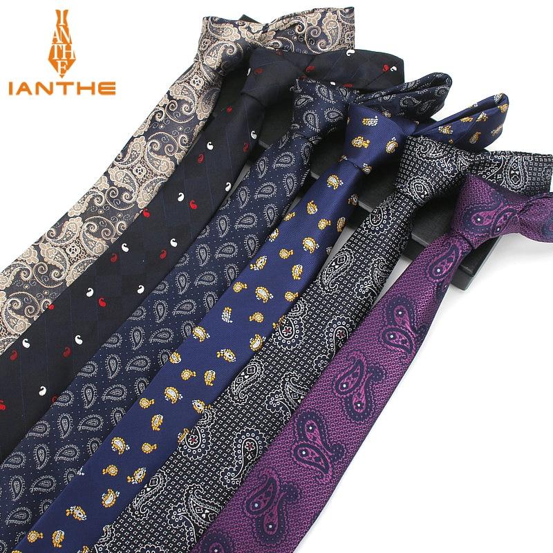 Men Ties Necktie Men's Vestidos Business Wedding Tie Male Dress Legame Gift Gravata Vintage Paisley Jacquard WOVEN 6cm Neckties