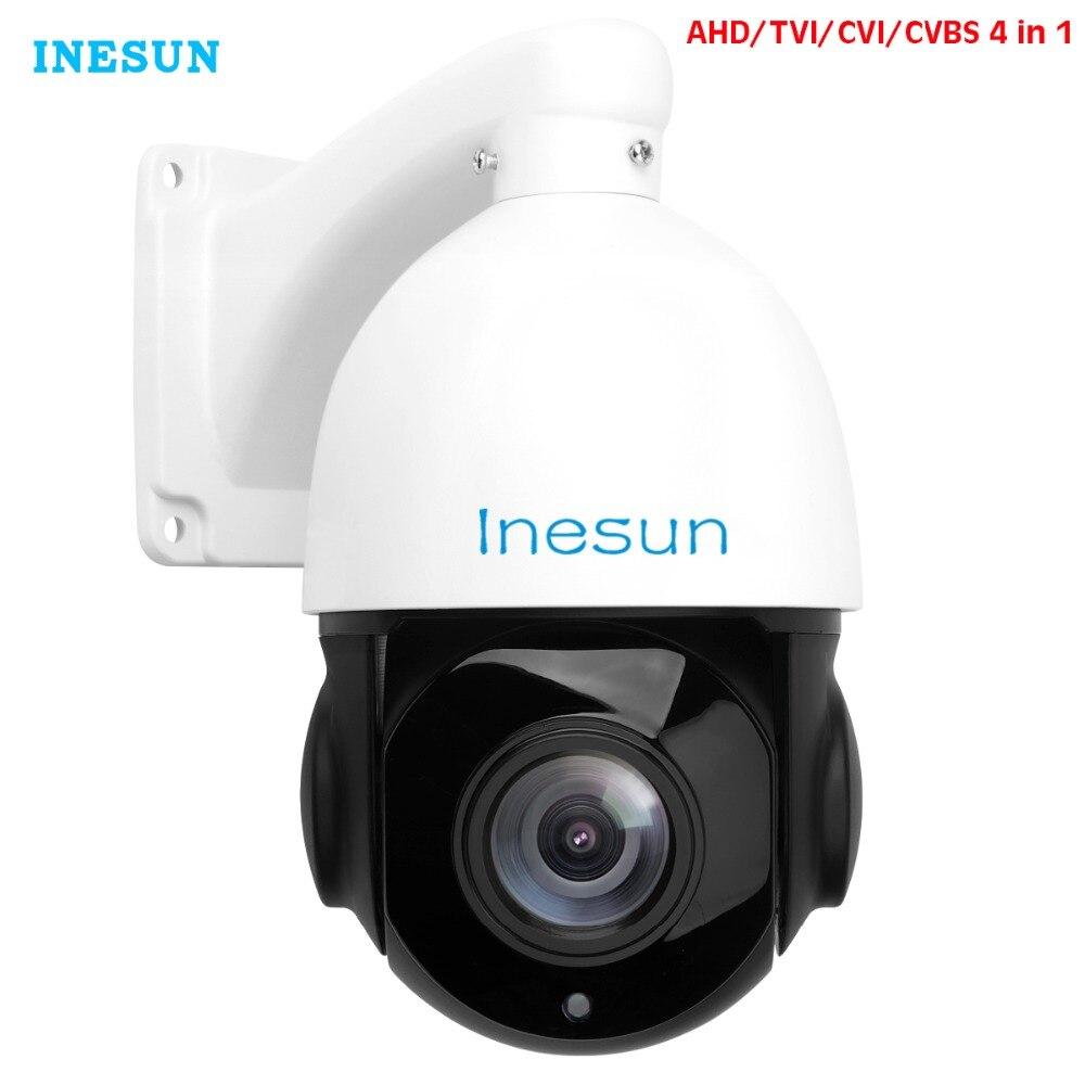 Inesun 2MP 5MP AHD PTZ камера системы безопасности 30X Оптический зум 4 в 1 HD TVI/AHD/CVI/CVBS наружного видеонаблюдения Скорость куполообразная камера