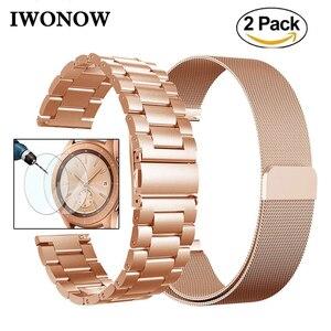 Ремешок для часов Milanese Loop из нержавеющей стали, 20 мм, для Samsung Galaxy Watch, 42 мм, Active Gear Sport S2, Классический магнитный ремешок