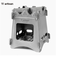 Tiartisan BBQ Stove Portable Ultralight Titanium Wood Burning Stove Firewood Stove Pellet Pocket Packbaking Pure Titanium