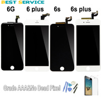 5 5 For IPhone 6 Plus LCD Screen Display Touch Screen Digitizer Assembly Black White Tools