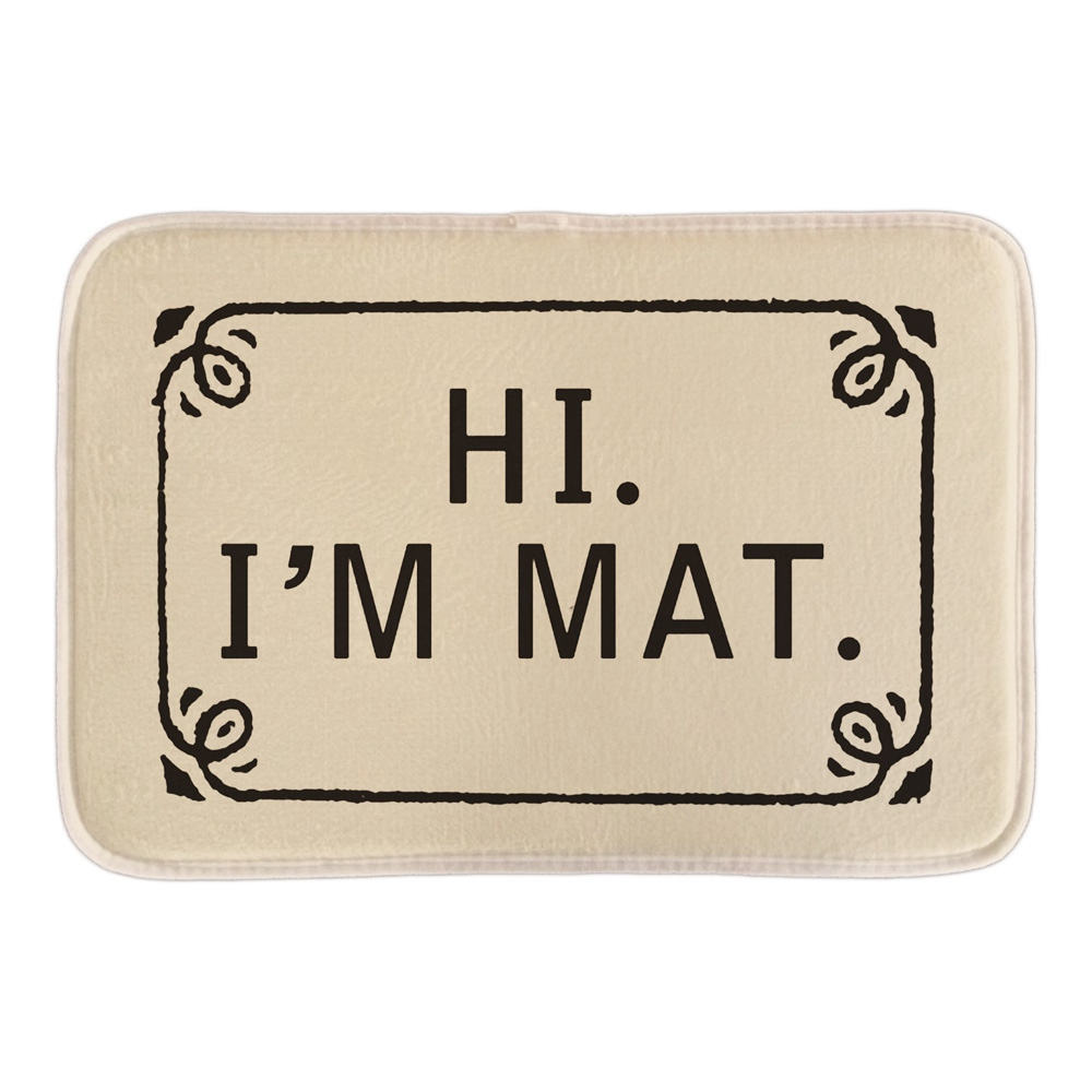 Funny Welcome Doormat With Hi I M Mat Home Decorative Outdoor font b Indoor b font