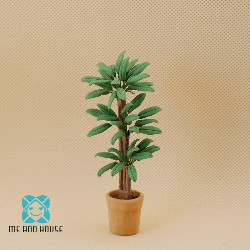 Planta de plástico escala 1:12 e Casa De Muñecas Jardín
