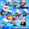 Envío gratis alta calidad venta al por mayor pitufina Clumsy figuras elfos Papa acción juguetes 10 unids por juego, muñecas de los niños