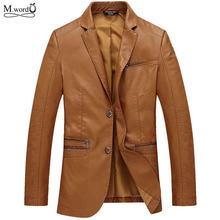 1a97f08066ac Mwxsd marca casual hombres pu chaqueta de cuero chaqueta para hombre  chaquetas de cuero jaqueta Chaqueta