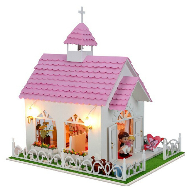 Toys For Church : Diy doll house church wedding in roma wooden toys for kids
