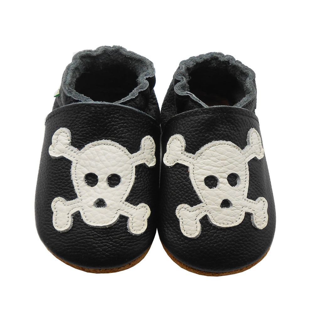 Leather Skull Baby Shoes