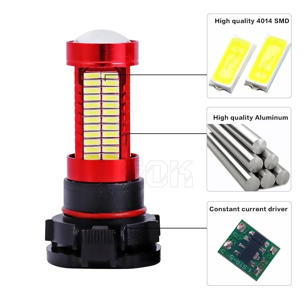 10 piezas H11 H7 H4 H16 led 106SMD 4014 LED fogLamp led Luz - Luces del coche - foto 3