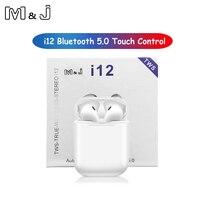 M & J i12 tws сенсорное управление 1:1 Беспроводные Bluetooth 5,0 наушники 3D стильные стереонаушники pk i10 tws i20 i30 pod для iPhone xiaomi