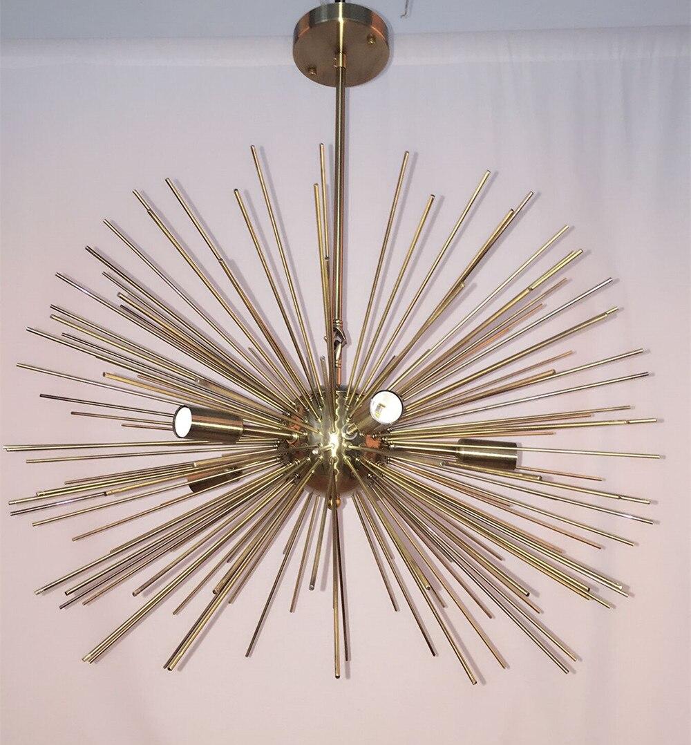 Mitte Des Jahrhunderts 5 Lampen Gold Messing Kugel Seeigel Kronleuchter  Licht Leuchte + Freies Verschiffen 628 In Mitte Des Jahrhunderts 5 Lampen  Gold ...