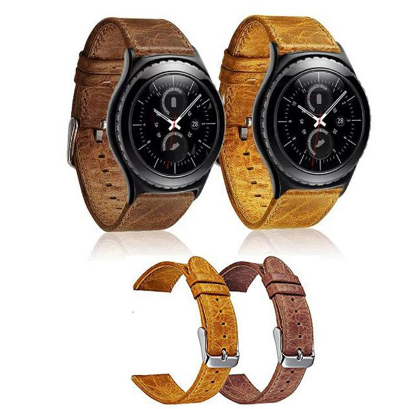 Excellent Quality Genuine Leather Watch Band for Gear S2 Band Replacement Wrist Strap For Samsung Galaxy Gear S2 Classic genuine leather watch band strap for samsung galaxy gear s2 classic r732 black