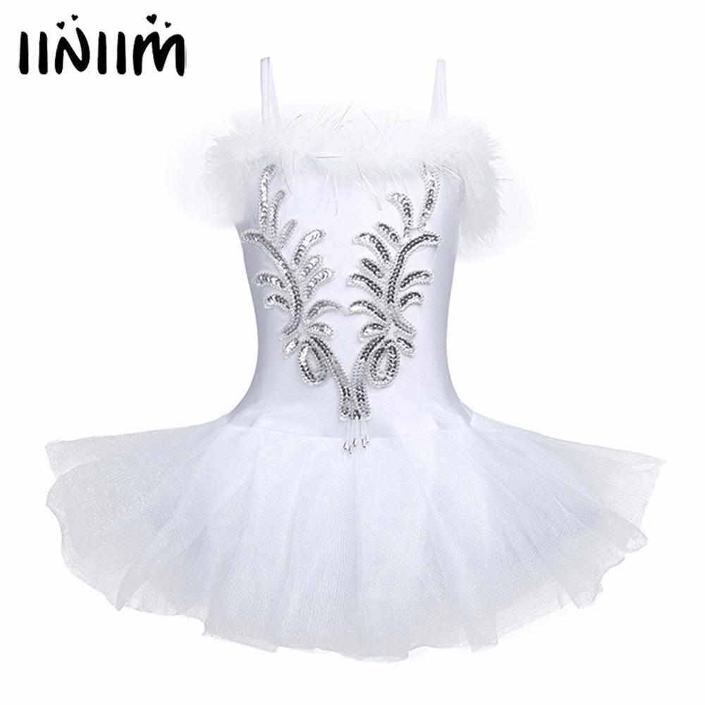 Sequined and Beads Kids Girls Spaghetti Strap Flower Ballet Dancer Leotard Tutu Dress with Fingerless Long <font><b>Gloves</b></font> and Hair Clip
