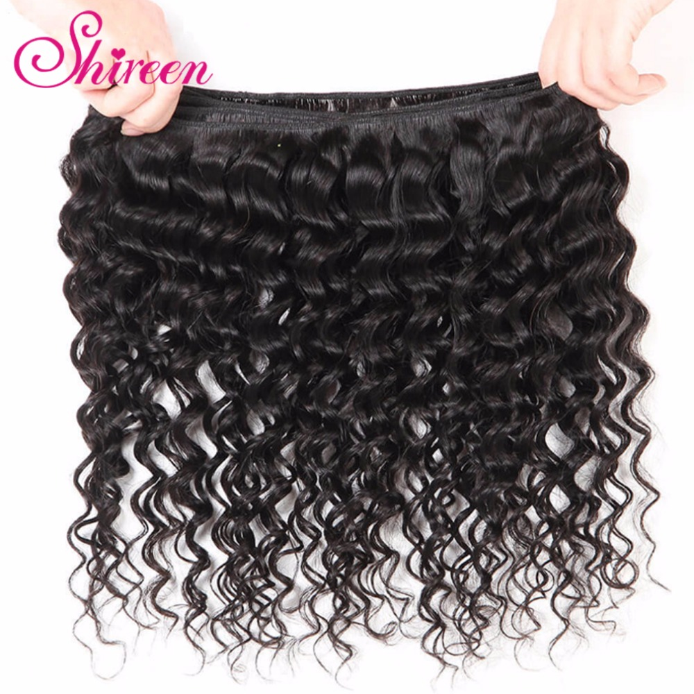 Image 4 - Brazilian Deep Wave Bundles With Closure 4*4 Freepart Human Hair Extensions Brazillian Hair Weave Bundles With Closure Remy Hair-in 3/4 Bundles with Closure from Hair Extensions & Wigs