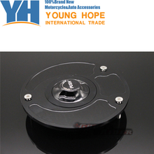 Высокое качество мотоцикл части алюминиевого сплава газовое топливо бензин бак крышка черная крышка топливного бака подходит для HONDA CB1000R 08-11