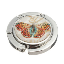 Economical Foldable Metal Butterfly Purse Bag Hanger Handbag Table Hook ds99(China)